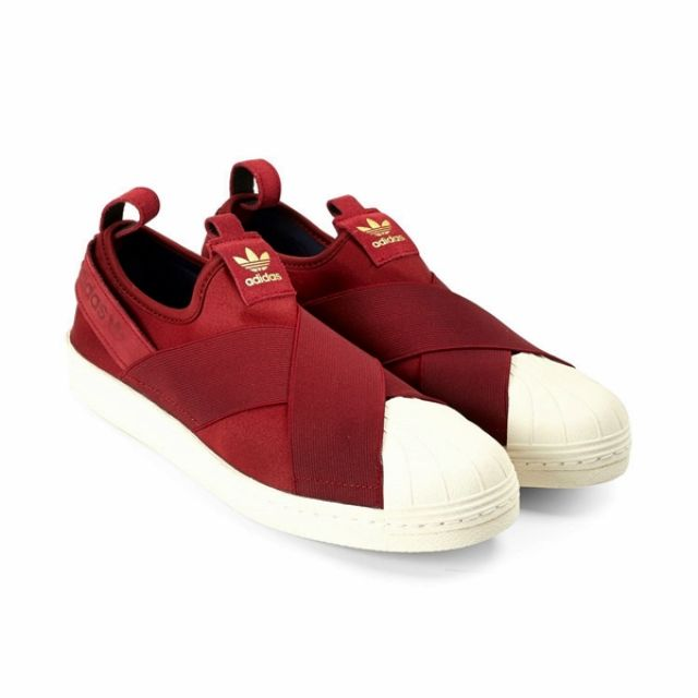 quality design 23f51 e76a3 ORIGINAL Adidas Superstar Slip On Burgundy Red Unisex Shoes, Sports on  Carousell