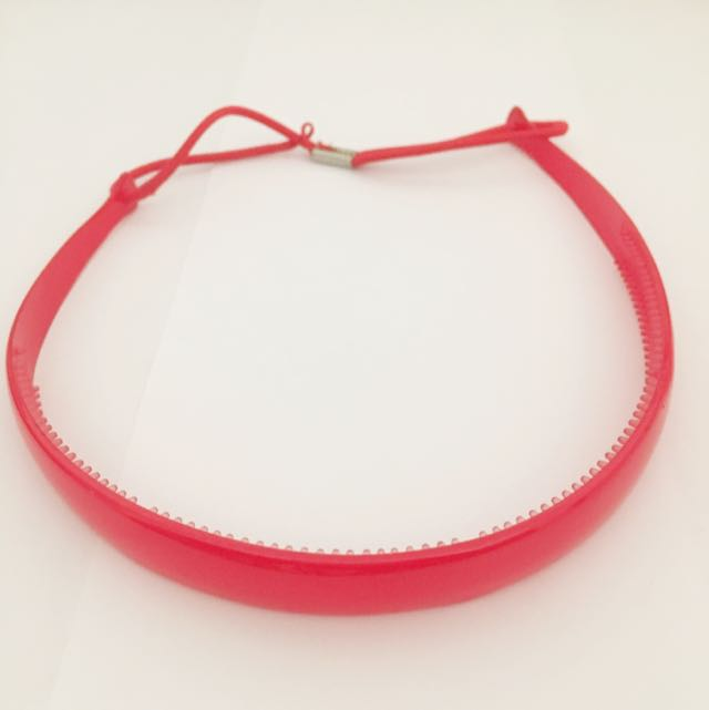 Red Headband With Elastic