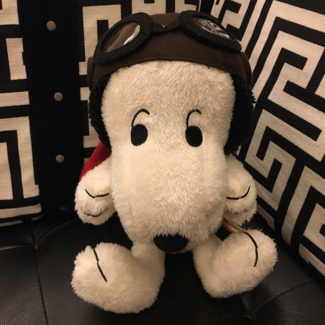 史努比snoopy飛行員娃娃