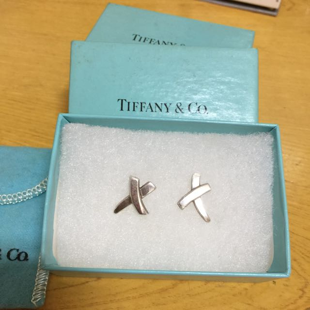 真品TIFFANY&Co.純銀耳環