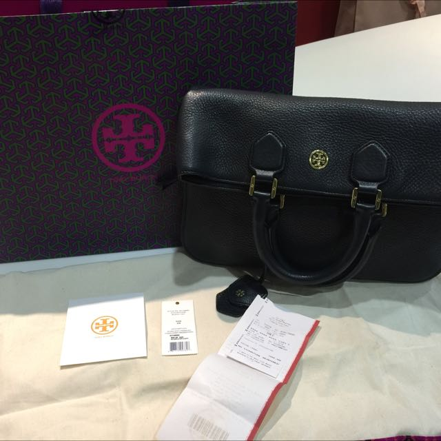 8161fd707d4 Tory Burch Robinson Pebbled Fold Over Bag