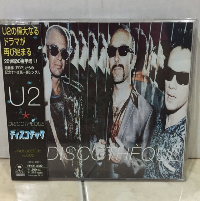 U2 Discotheque CD Single (Japan Import) Pop Music Audio