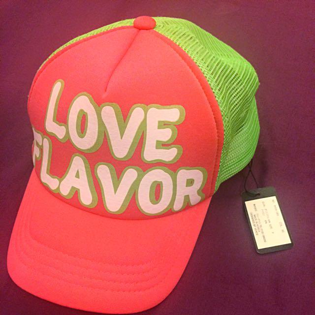 日牌VENCE桃綠撞色棒球帽