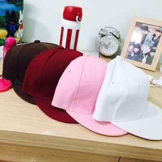 素色棒球帽 粉紅色白色酒紅色咖啡色