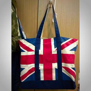 chocoolate 英國國旗 雙層帆布 托特包