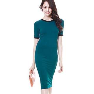 MDS Collections Teal Green Maxi Dress
