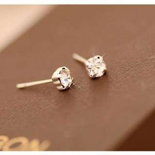 時尚水晶鑽耳環
