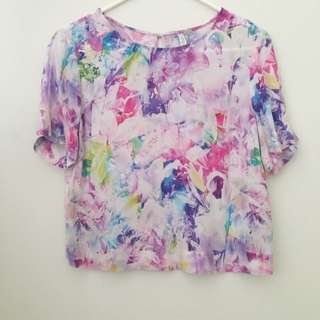 Forever New Floral Cropped Top