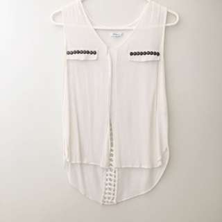 Braided Cut Out Top With Studs