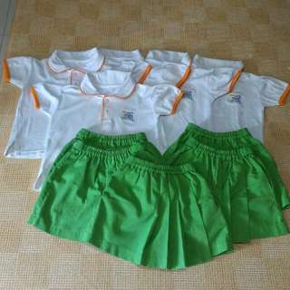 My First SKOOL girl Uniform (Top - Size 26, Bottom - M Size)
