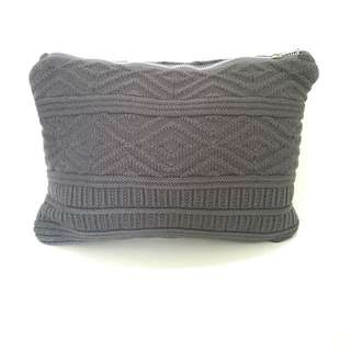 BNWT Korea Knitted Laptop Sleeve, Makeup Pouch And Bag In Grey And Navy