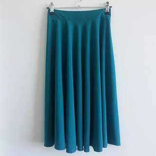Turquoise Full Skirt Sz. M