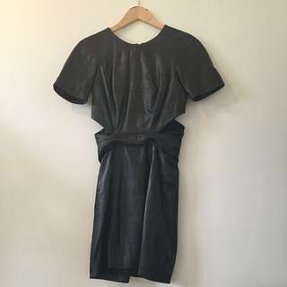 Cue/ Dion Lee Leather Dress