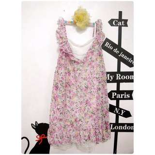 日貨田野玫瑰荷葉娃娃洋裝