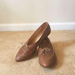 Vintage Brown Leather Brogues