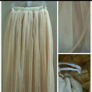 Pazzo 粉膚色紗裙 ( 力求出清 要搬家了)