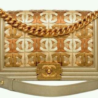 "Chanel CC Monogram Boy 10"""