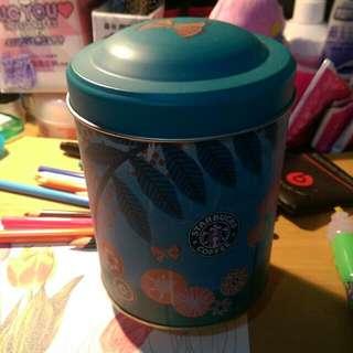 星巴克音樂圓筒儲藏罐