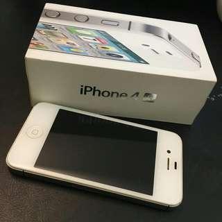 二手。自售 i phone 4s 32G 白色 可當備用機 手機