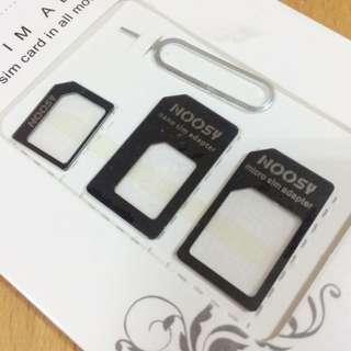 手機通用轉接卡 NOOSY 諾斯小卡轉大卡 蘋果iphone5/5s 4/4s sim卡槽還原轉換卡套 黑色