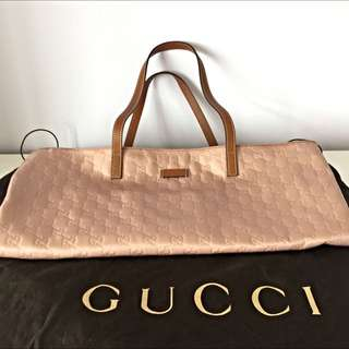 Gucci Pink Classic Print Bag (Authentic)