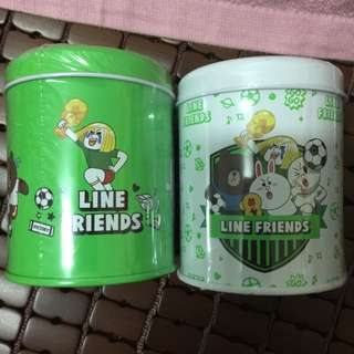 LINE足球系列馬口鐵收納罐