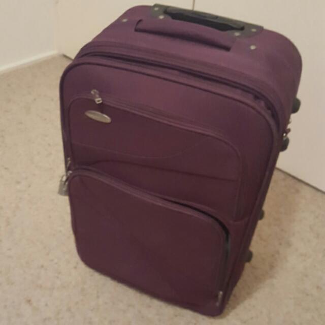 62cm Purple Luggage