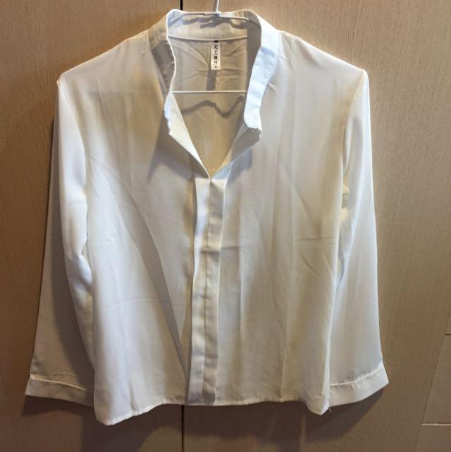 ‼️含郵(全新)白色雪紡上衣