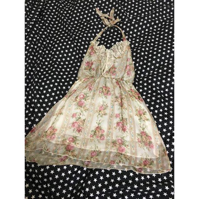 正韓粉甜玫瑰洋裝