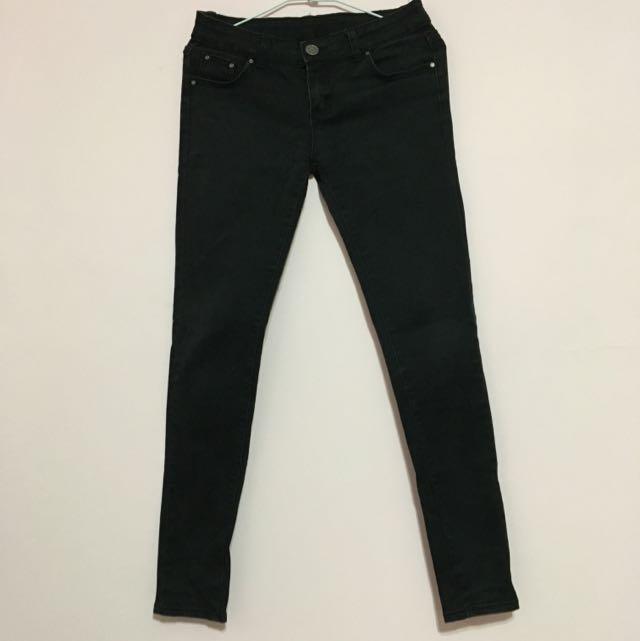 黑色直筒長褲