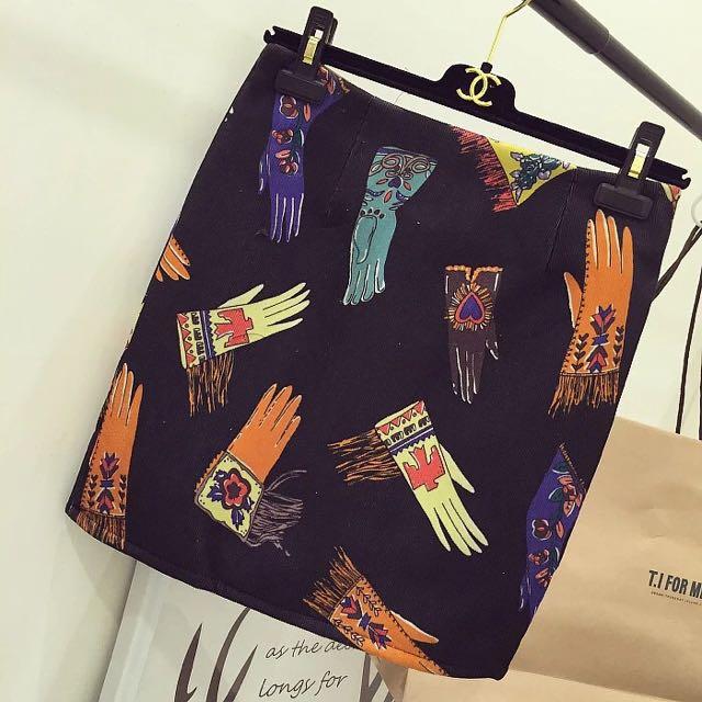 藝術風麂皮窄裙(兩色)