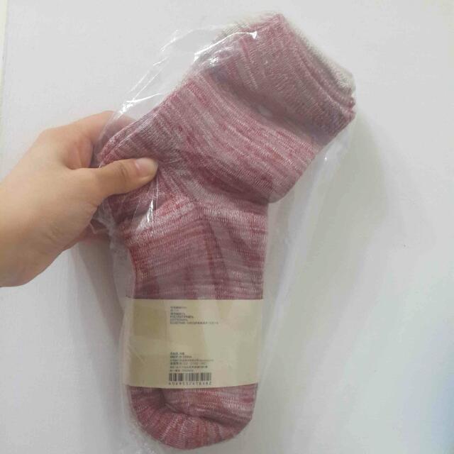 無印良品殘系混色針織襪