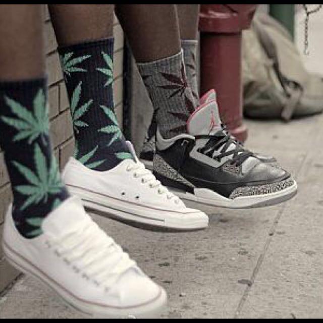 大麻葉潮流襪  (薄款)