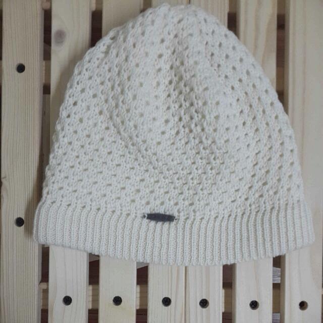 🎯暖呼呼氣質毛帽 米白色 全新