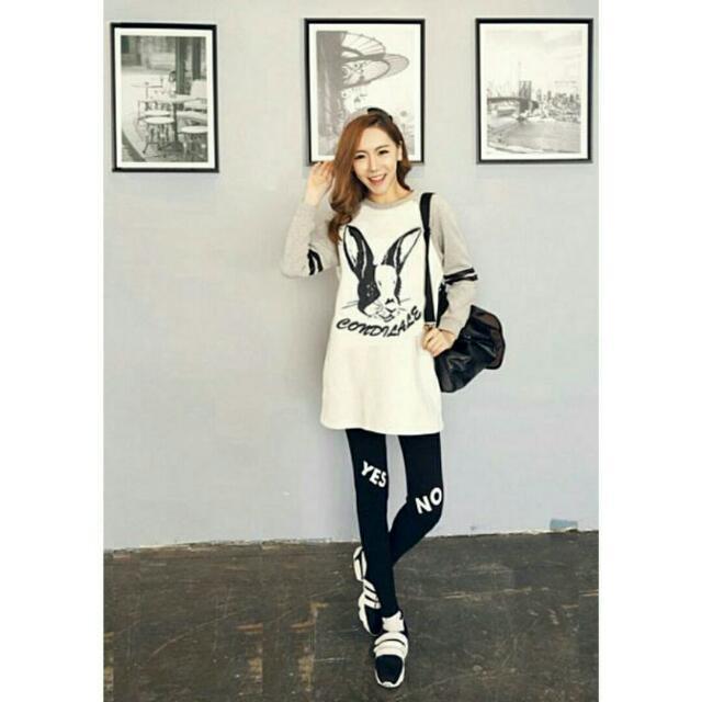 ♞嬰 樂♘韓版跳跳兔的夢幻國度哺乳衣套裝 月子服 孕婦裝 產婦 哺乳睡衣 長褲 套裝