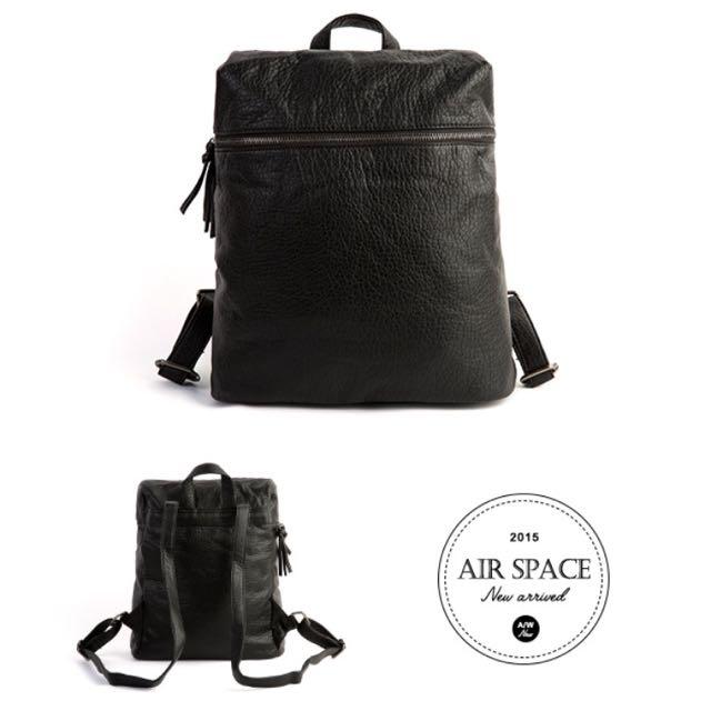 (全新)Air Space 黑色後背包