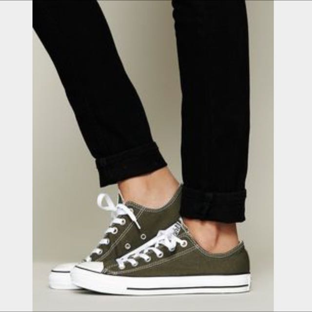 Converse Shoes - Olive Green, Luxury on