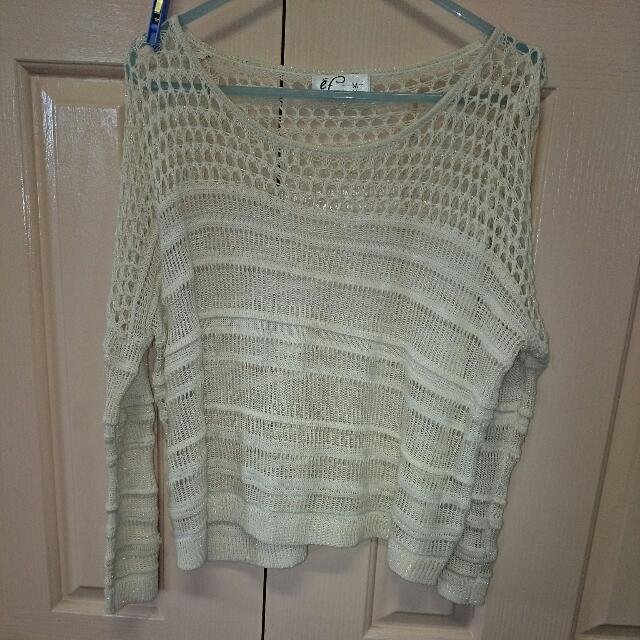 Cream Laced Jumper