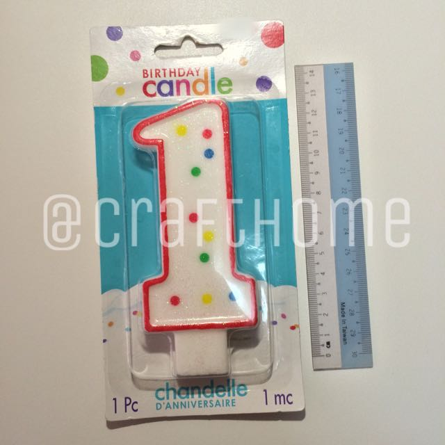 Giant Number 1 Candle Design Craft On Carousell