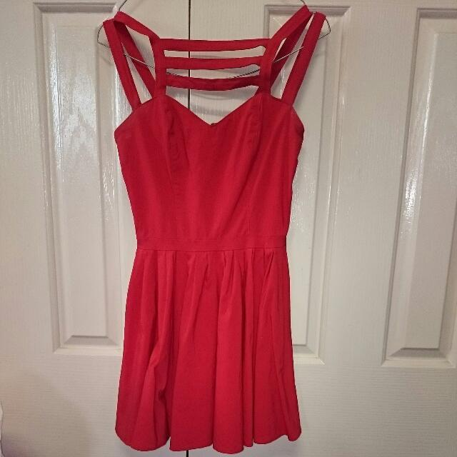 Multi Strap Red short Asos Dress