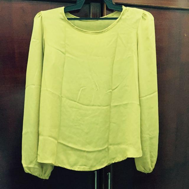 Mustard Yellow Chiffon Blouse