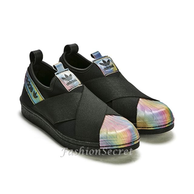 new products 2cd7e 62358 ORIGINAL Adidas Superstar Slip On Rita Ora Black Unisex Shoes 渐变色 情侣 休闲 鞋