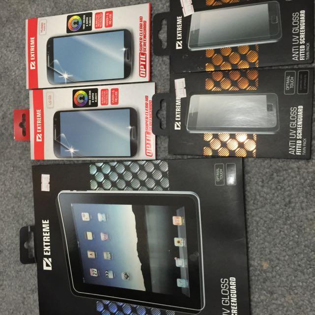 Screen Protector iPad2/3/4; Lg G3; Huawei G6; Lg F5 & Sony Xperia 5
