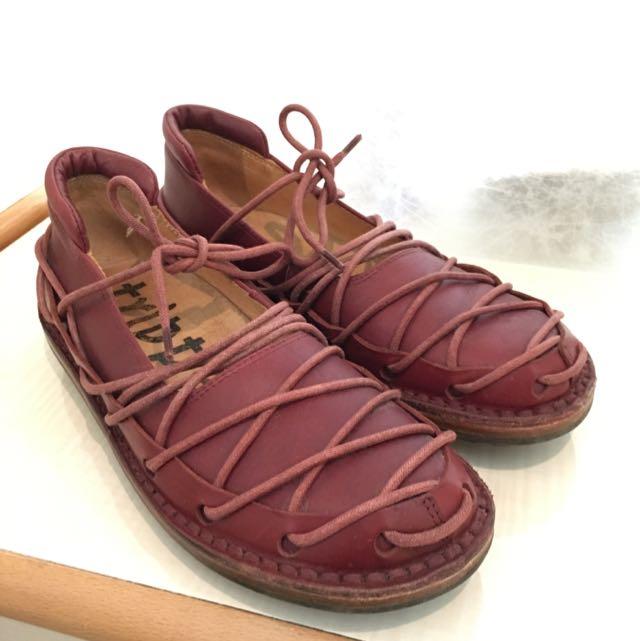 正品-Trippen蟑螂鞋(酒紅)
