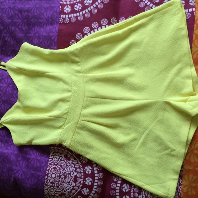 Yellow Size 8 jumpsuit From Dotti