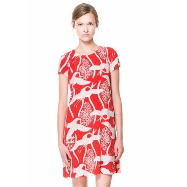 335e03b902f Zara Bird Print Dress, Women's Fashion on Carousell