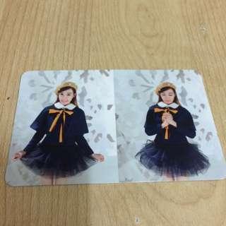 Snsd TTS Tiffany Dear Santa Photocard Green Ver