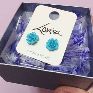 Lovisa Blue Rose Ear Stud