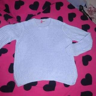H&M藍針織毛衣L(日本帶回)