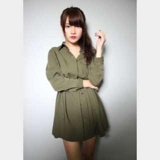 ✨軍綠連身洋裝✨